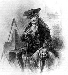 Sketch of Diedrich Knickerbocker by Felix O.C. Darley