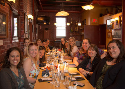 photo of Knickerbocker, NSDAR chapter junior members at dinner